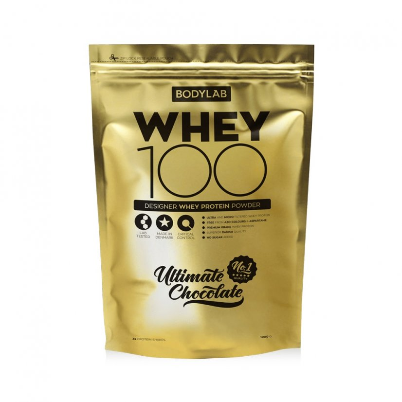 Bodylab Whey Protein 100 1000 g gold edition - ultimate chocolate